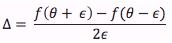 Central diff estimator