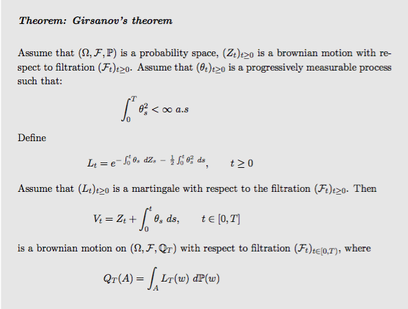 Girsanov theorem