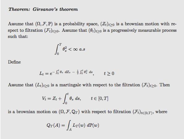 Girsanov theorem