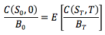 Martingale pricing equation